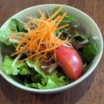 カフェレストラン きたら - 2015/12 スープカレーランチセットのサラダ