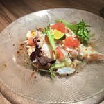 オマール海老&ラクレットチーズ オマール - タコのカルパッチョ