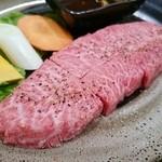 焼肉レストラン 食道苑 - 山形牛ミスジ(王道塩ロース厚切り)