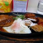 45170581 - B定食 カニコロッケ、ポークカツ、鶏唐揚げ、ハンバーグ