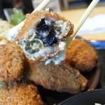 宝彩 伊勢 - 牡蠣フライは中に2~3個牡蠣が入っている