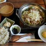 45171564 - 牛葱すきやき定食