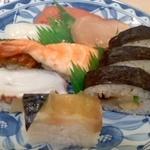 すし富 - 巻き寿司入り盛り合わせ