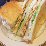 cafe SAWAYA - 玉子・ベーコン・野菜のトーストサンド:ランチ700円