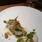 45174660 - 白魚と飛騨葱。葱マヨソース