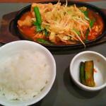45180043 - ●2015 #177 @もつ焼きランチ+ハーフ野菜温麺 ¥1140