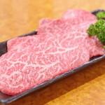 炭火焼肉 牛和鹿 - 佐賀牛、上ロース(芯々)
