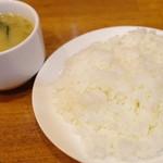 洋食 GOTOO - ライスと味噌汁