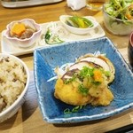コビトカバ - 椎茸の肉挟み揚げ定食☆彡