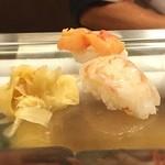 幸寿司 - ボタン海老と赤貝