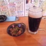 立飲みカドクラ - 牛すじ&黒生ビール