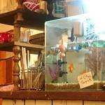 金魚CAFE - 『みなちゃん と なみちゃん』金魚が2匹いる模様。