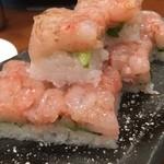 居酒屋 大江戸 - 甘海老の押し寿司