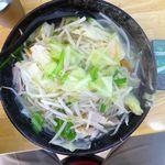 タンメンしゃきしゃき - タンメン(大盛)800円 野菜大盛(無料)、ライス(11:00-15:00無料)