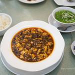 45191226 - ランチメニュー:麻婆豆腐セット(他に前菜、デザート付)