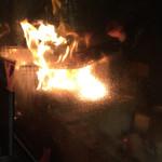 金市朗 - 藁焼き中!