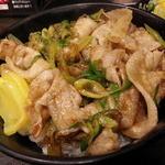 伝説のすた丼屋 - サラダセット700円をミニすた丼にして600円