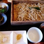 つくも - 料理写真:山菜のてんぷら付ランチのお蕎麦