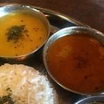 45202147 - 豆のスープとエビカレー(カグラランチ)