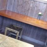 胡蝶庵 仙波 - 座敷でなくテーブルで良かった でもメッチャ寒かった この時季店内でもダウン必須