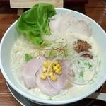 暁 製麺 - 五徳味噌らぁ麺(鶏チャーシュートッピング)