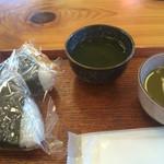 釜炊きおにぎり 筑波山 縁むすび - おにぎりとお茶