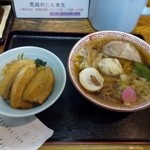 45210359 - にく定食(小鳩ラーメン+肉ご飯)910円