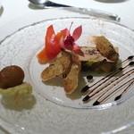 フレンチレストラン にき亭 - フォアグラのテリーヌと栗のグラッセ