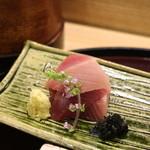 日本料理 太月 - 2015/12長崎産かつお、鹿児島産鯛、赤貝