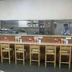 まんぷく食堂 - 店内です。