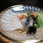 日本料理 鎌倉山倶楽部 - 造り 平目 蛸 鮪