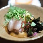日本料理 鎌倉山倶楽部 - 鯛茶漬けの鯛部分