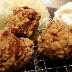 とり多津 - 醤油唐揚げ定食(小盛)