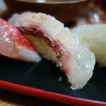 マグロー - きんめ、真鯛、平目
