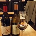 ビストロ K - ボトルッワインは赤白を一遍に注文した。