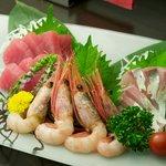 ざわ - 魚のお刺身は、日替わりで種類も多いです。