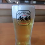 土岐よりみち温泉桔梗 - 2015.12 生ビール(550円)