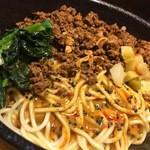 担々麺 無坊 - DAY-3:汁なし担々麺(麺大盛+肉大盛)
