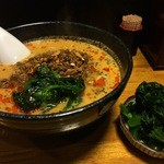 担々麺 無坊 - DAY-2:担々麺+ほうれん草