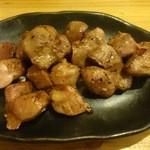 とりけん - ズリの塩焼き 380円