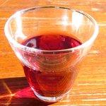 45224280 - 名物ラザニア 1500円 の赤ワイン