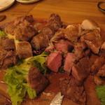 男の肉モツバル suEzou アバアバ - 男のこぼれ肉モツ盛り(解体後)(2015年12月)