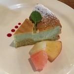 レストラン・オルグ - 抹茶のチーズケーキ 480円