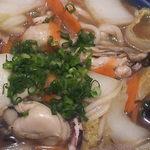 釜揚げうどん 水山 - わりと大粒の牡蠣