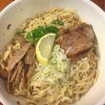 麺食堂 一真亭 - 醤油ばんめん(大盛)