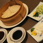 中国料理 盤古殿 - ダックのを巻く皮餅とソース2015年12月