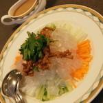 中国料理 盤古殿 - 北京風板春雨のサラダ(1,080円+税)2015年12月