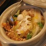 中国料理 盤古殿 - 海の幸のおこげ(1,280円+税)2015年12月