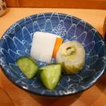 とん八亭 - お新香(自家製)