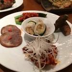 韓国料理 水刺齋 - 前菜5種盛り合わせ
